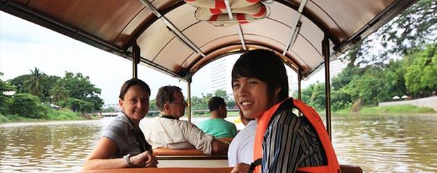 ล่องเรือชมแม่น้ำปิง เที่ยวบ้านชาวนา เชียงใหม่