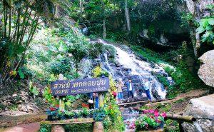 น้ำตก บ้านม้งดอยปุย doi suthep temple hmong village tour
