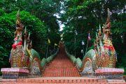 บันไดนาค วัดพระธาตุดอยสุเทพ doi suthep temple hmong village tour