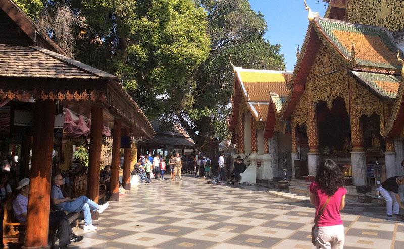 บริเวณโดยรอบ วัดพระธาตุดอยสุเทพ doi suthep temple hmong village tour