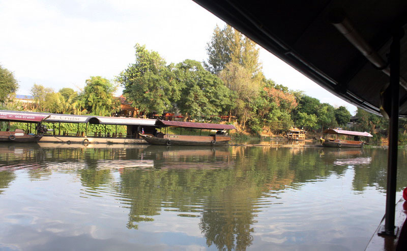 บรรยากาศริมฝั่งแม่น้ำปิง maeping river cruise